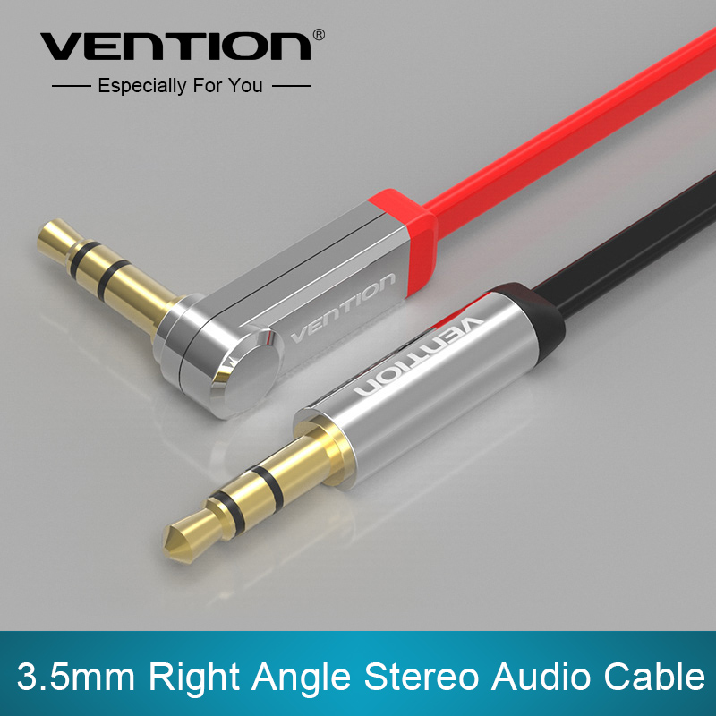 Vention 3.5mm jack Audio Cable male to male Extension Cable 90 Degree Right Angle Flat Aux Cable for Car/Headphone/PM4/PM3(China (Mainland))