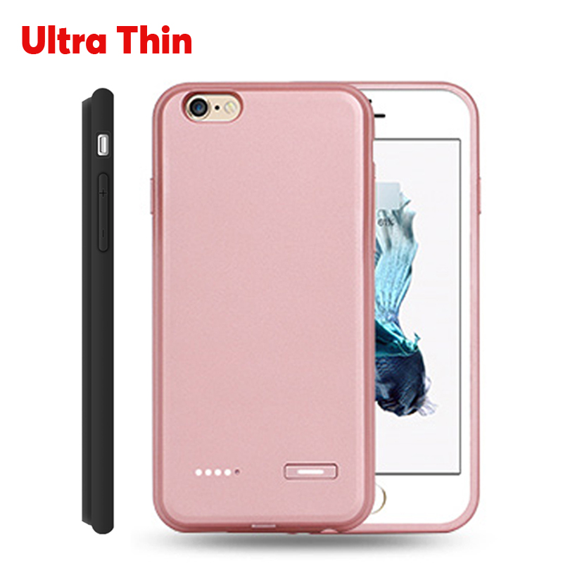 Ultra thin Power Bank Case Cover For iphone 6 6S 6plus 6s plus External Charger Case Backup Battery Cover Extra Cell Phone Power(China (Mainland))