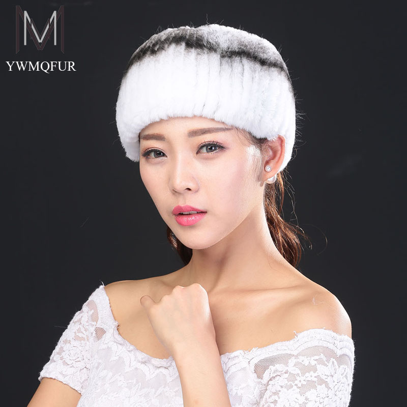 Hot2016 newest fashion hairband fur headbands for women knitted 100%rex rabbit fur scraf for women real fur headwrap ear warmer(China (Mainland))