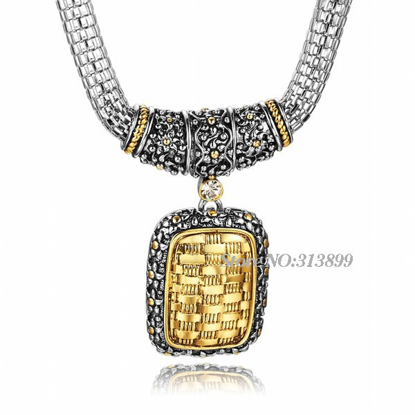 2015 New Fashion Jewelry Platinum Plated Yellow Crystal Collares Statement Necklace Women Girl Choker Best Gift - Fame (China store Fashion)