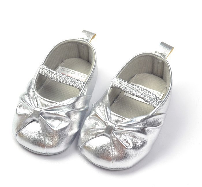 Formal Dress Baby Shoes Girl Silver Toddler Soft