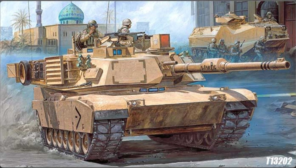 "Academy 1/35 13202 M1A1 ABRAMS ""IRAQ 2003"" MBT Plastic Model Kit Free Shipping(China (Mainland))"