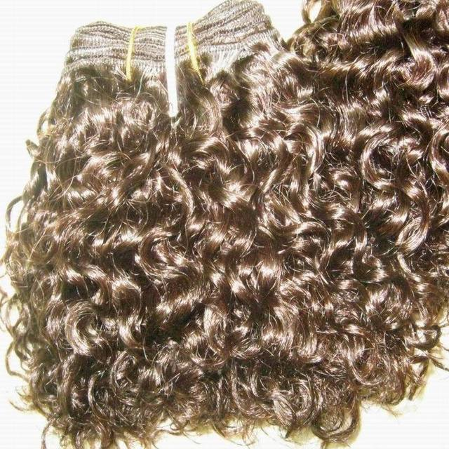 """Good price&Quality for kinky Curly 8"""" inch100% indian  hair wefts 1.8kg/lot,36pcs  Guangzhou hair supplier"""