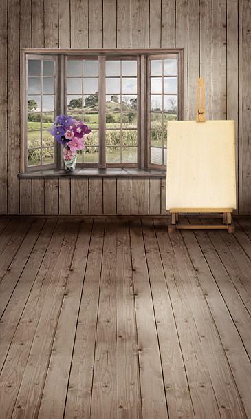 New arrival Background fundo Sketchpad vase window 600CM*300CM width backgrounds LK 2965<br>