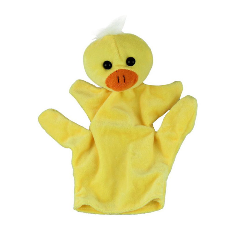 Comfortable Fabric Baby Kids Child Duck Animal Finger Puppet Infant Kid Unisex Plush Toys Top Quality Hand Puppet(China (Mainland))