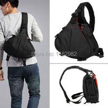 Caden K1  Camera Bag Case Waterproof Messenger Shoulder Bag Video Portable diagonal Triangle Carry Case Black 600D 7D 5DII 60D(China (Mainland))