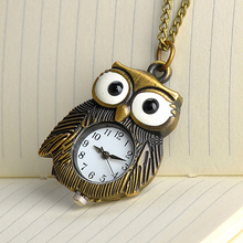 Buy Cindiry Women Men Brand New Retro Owl Design Pocket Fob Watch Long Necklace Chain Gift Watches P35 for $2.53 in AliExpress store