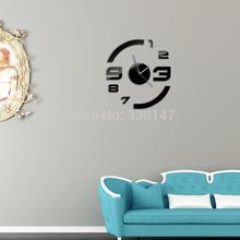 9PCS/Set Home Decor Acrylic Mirrors Wall Clock DIY Big Arc Figure Stickers 3D - C&H Mirror store