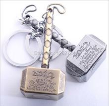 Free Shipping New The Avenge Thor Hammer Action Figure Keychain Keyring Doll(China (Mainland))