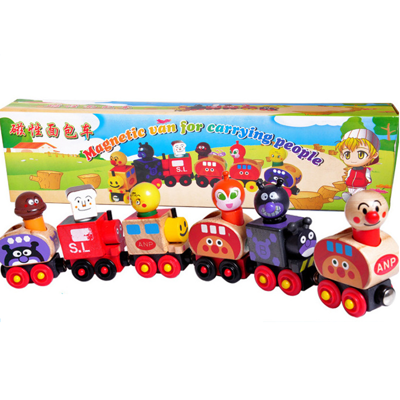 Toy Trains For Two Year Olds : Section wooden magnetic train anpanman small toys
