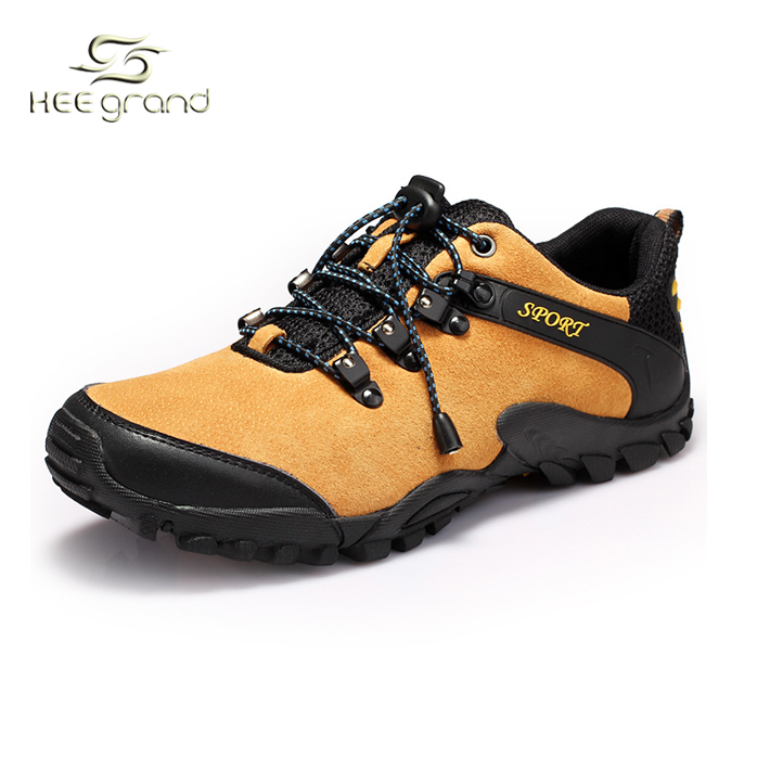 Men's Daily Sneakers Outdoor 2016 Hot Sell Genuine Leather Men's Relaxed Fits Sneakers Wearable Sport Shoes Hiking Shoes XYD081