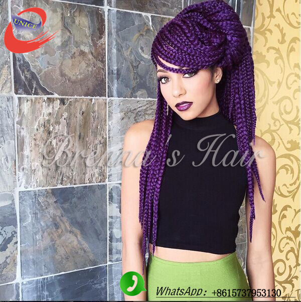 box hair extension trendy beauty hair products crochet braids purple ...