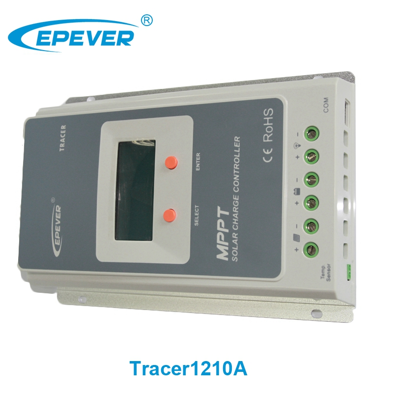 Epever Epsolar Tracer 1210a Ultra-fast tracking speed 12v 24v auto 10a solar panel mppt solar charge controller(China (Mainland))