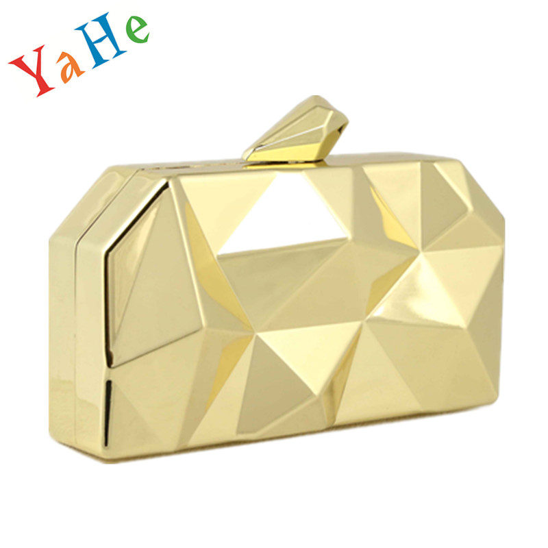 Women's Day Clutch Mini Evening Bag Famous Brand Designer Luxury Guchi Purse Handbag Rhombus Metal Small Party Shoulder Bags - Women store