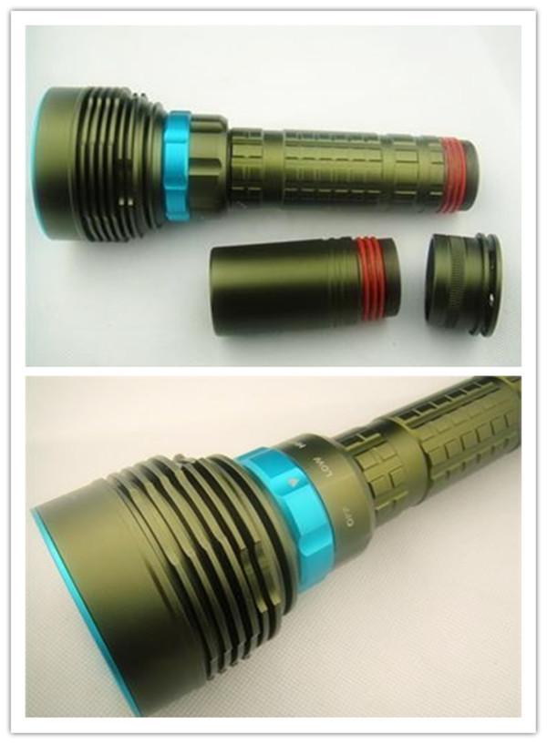 cree led mini led flashlight 10000Lumen Diving 7xCREE XM-L T6 LED Flashlight Torch Waterproof Light 3X 26650(China (Mainland))
