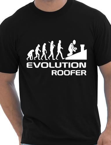 Evolution Of Roofer Funny Mens T-Shirt Birthday Gift More Size and Colors(China (Mainland))