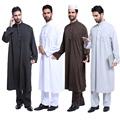 High quality Muslim Islamic Clothing for men Arabia Jubba Thobe plus size dubai Men s Kaftan