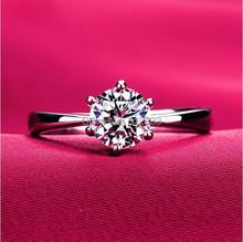 Classic dazzling simulation of platinum diamond wedding Ring for women 1.2ct large CZ diamond wedding jewelry USA SIZE