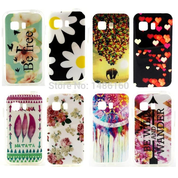 for Samsung GALAXY Young 2 case HOT Flower Owl Butterfly soft TPU cell phone skin cases covers for Samsung GALAXY Young2 G130(China (Mainland))