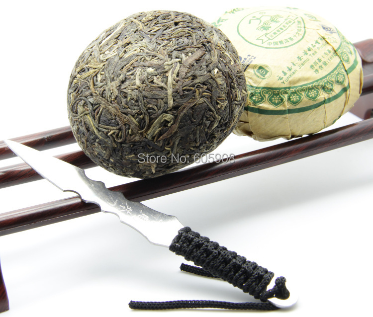 Jia Mu Te Menghai Tuo Cha Puer Tea 100g Raw Green Tea Food Puer*Buy 3 Pieces Tea Get One Puer Knife Tool(China (Mainland))