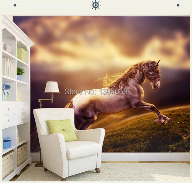 customized photo wallpaper horse wallpaper for living room