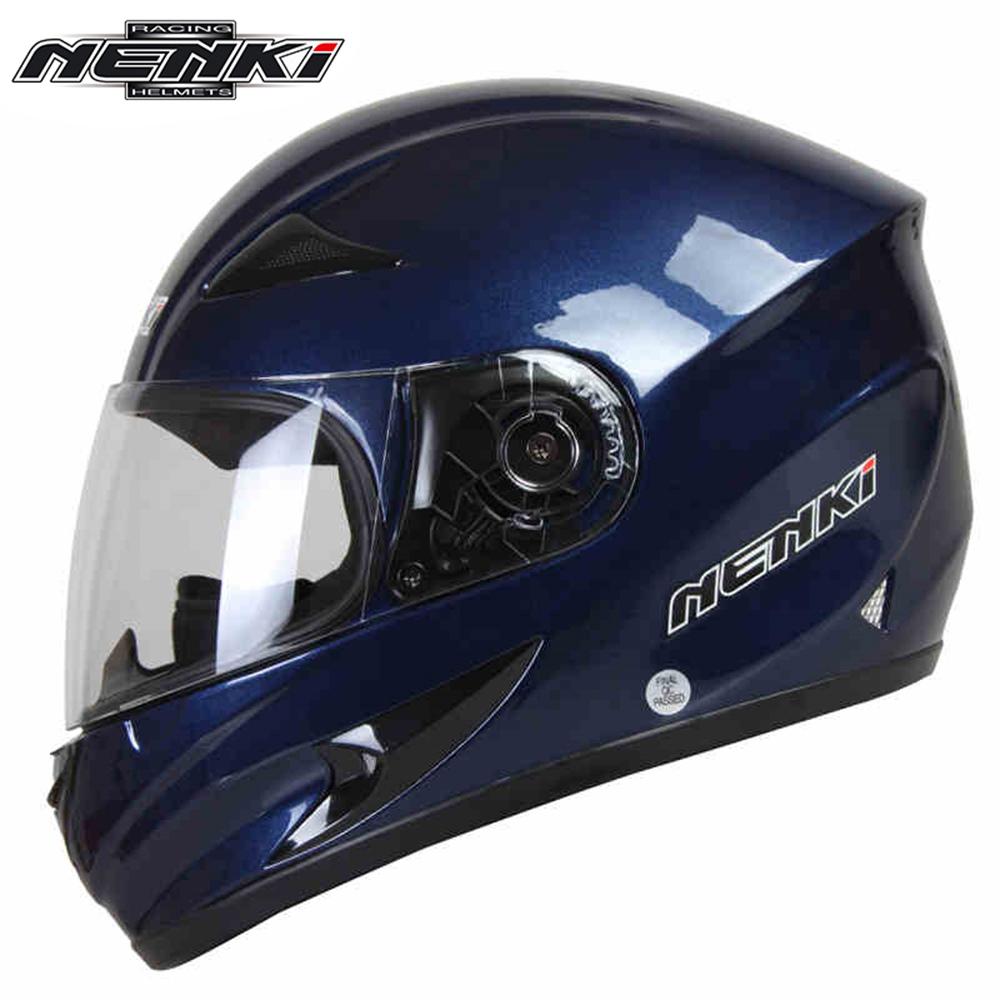 NENKI Helmet motorcycle cool blue Full Face Riding Helmet Motorcycle Full Face Riding Helmet for Men and Women(China (Mainland))