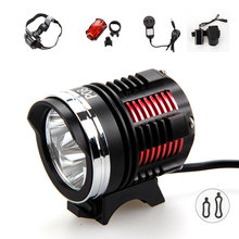 Buy 3x XM-L2 LED 7000Lm Front Bike Bicycle Light Led Lights HeadLamp Headlight +12000mAh Battery+AC Charger+Headband+Taillight for $29.10 in AliExpress store