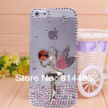 Purple elves angel case for iphone4 case for iPhone 4s case diamond cell phone protection shell wholesale custom