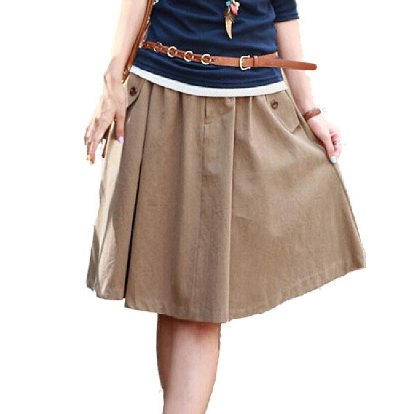 Plus-size-Skirt-with-Pockets-for-Womens-Casual-Clothing ...