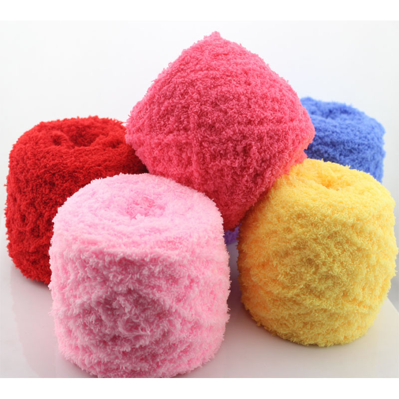Wholesale 5 Balls 500g Hand Knitting Yarn Baby Chenille Eco-Fridenly ...