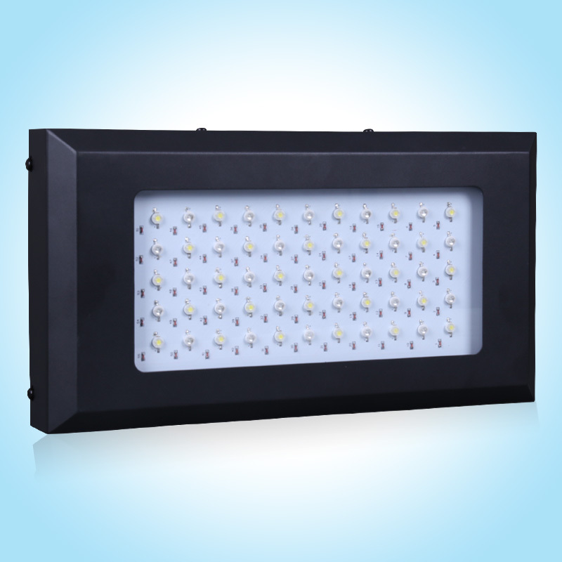 Wholesale White& Blue 120w dimmable led aquarium light Fish tank led lamp for coral reef AC85-265V(China (Mainland))