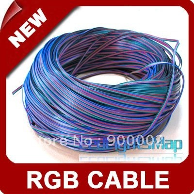 Free Shipping LED RGB cable wire extension cord for LED RGB Stripe  connect cable [ LedLightsMap ]
