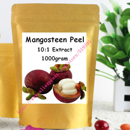 Natural Mangosteen Skin Peel Extract 10:1 Powder Xanthones Polyphenol Powder 1000gram free shipping<br><br>Aliexpress