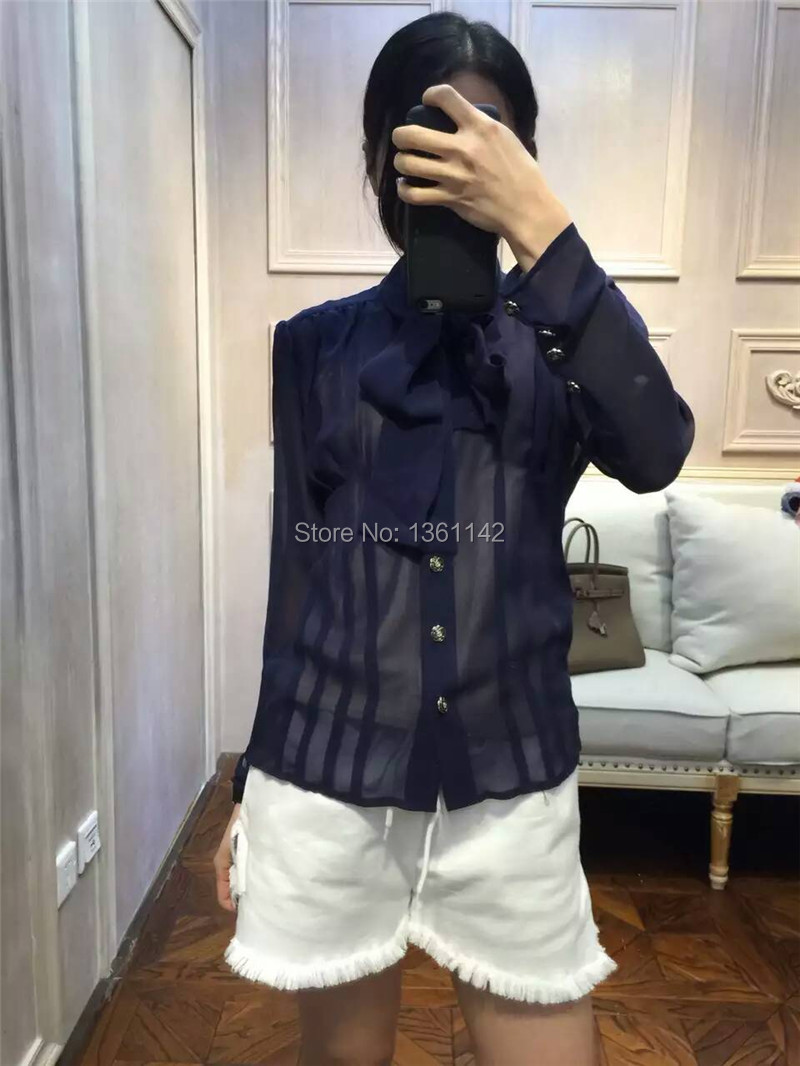 100 Silk Blouses 2016 Runway High Quality Brand 2 Pieces Women Blouse BlusasОдежда и ак�е��уары<br><br><br>Aliexpress