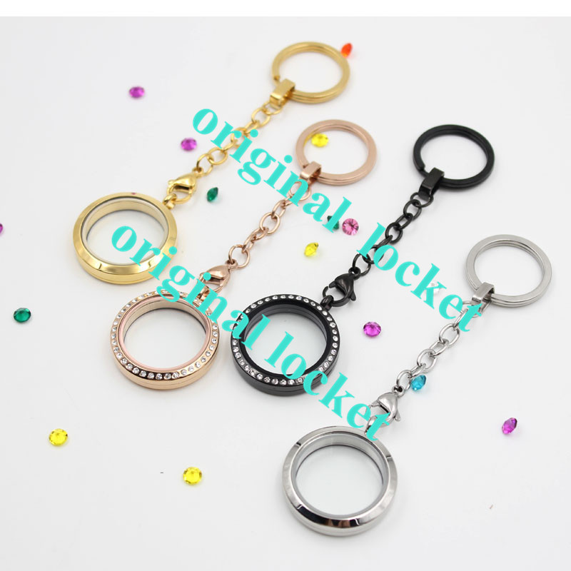 Latest! Wholesale keychain (with locket) 316Lstainless steel floating memory locket keychain<br><br>Aliexpress