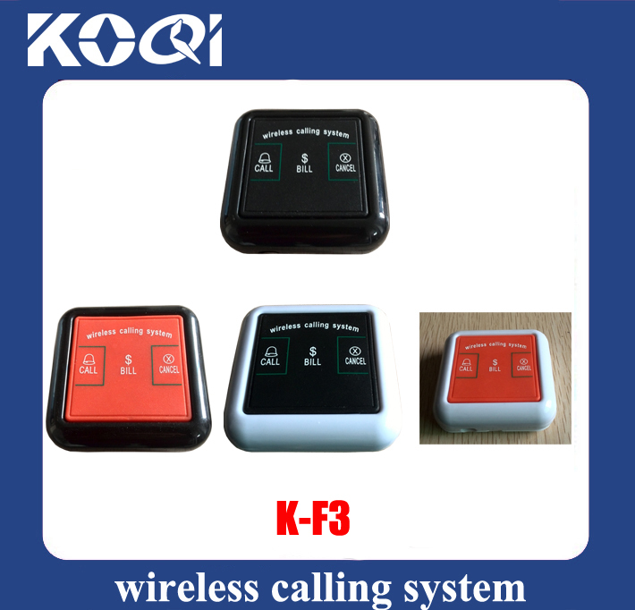 CE Passed Wireless table service calling button systems K-F3 for customer use(China (Mainland))