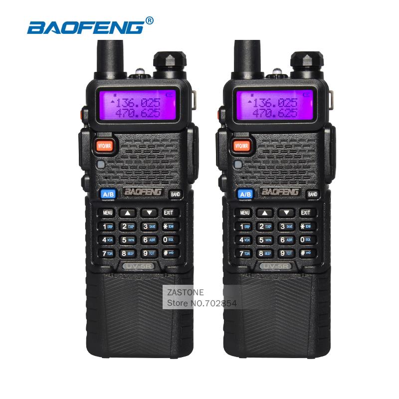 2pcs Walkie Talkie BaoFeng UV-5R CB Ham Radios 3800 Battery Dual Band UHF VHF Portable Walkie Talkie Set Amateur Radio Station(China (Mainland))