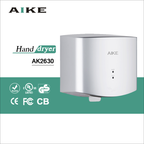 CE CB fast speed hand drying machine jet air automatic hand drier ABS hand dryer AK2630(China (Mainland))
