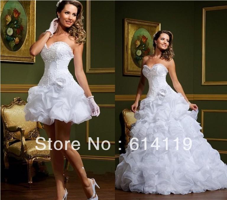 Hot selling fashion detachable skirt wedding dress ball for Wedding dress detachable skirt