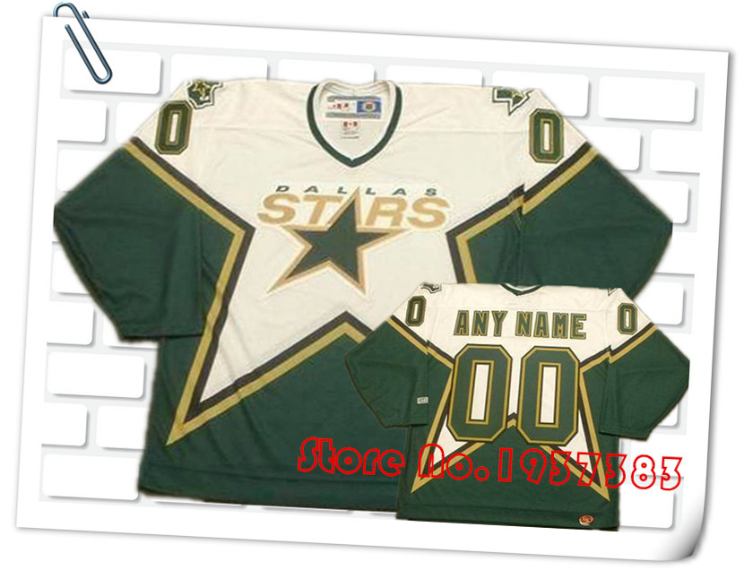 2016 New Design Style Dallas Stars Throwback Green/Black Hockey Jerseys, Accept Any Name and Any Number Custom Stitched Jerseys(China (Mainland))