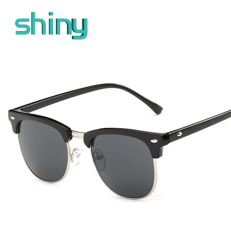 High Quality Half Metal Sunglasses Men Women Brand Designer Glasses Mirror Sun Glasses Fashion Gafas Oculos De Sol UV400 Classic(China (Mainland))