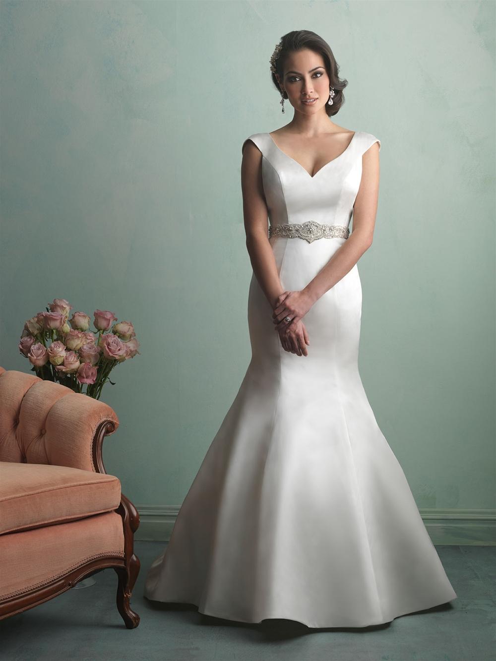 2015 wedding dress sexy backless satin mermaid bridal for Backless satin wedding dress