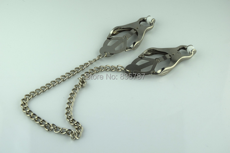 Butterfly Nipple Clamps Nipple Clip With Chain Sex Aid Toy  L109