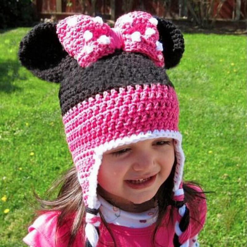 2016 Handmade Crochet Children Hat Knitted Baby Girl Bonnets Infant Newborn Photography Props Kids Hats Baby Cap For Girls(China (Mainland))