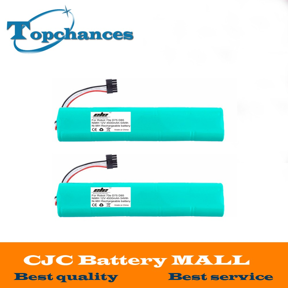 2pcs High quality NI-MH 12V 4500mAh Replacement battery for Neato Botvac 70e 75 80 85 D75 D8 D85 Vacuum Cleaner battery(China (Mainland))