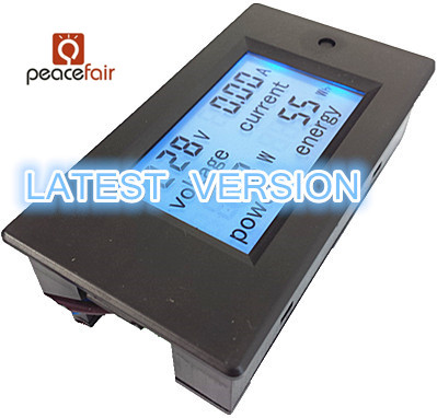 PEACEFAIR New Product Digital AC 80-260V 20A 4IN1 voltage current power energy Voltmeter Ammeter Watt Panel Meter(China (Mainland))