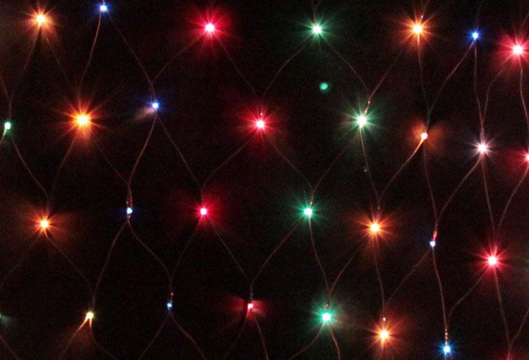Outdoor lighting lamp festive christmas string light holiday decoration flasher led lantern 120 net lights - yong fang liu's store