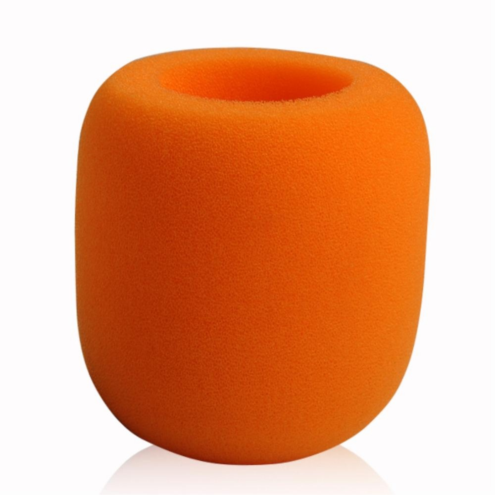 Orange Yellow Handheld Stage Microphone Karaoke DJ Windscreen Sponge Mic Cover EN9994