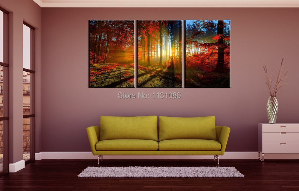 3 Pieces Ready To Hang Wall Art Canvas Prints Large Oil