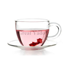 2 sets lot glass coffee tea cups with saucer Espresso cup for coffee tea sets 100ml